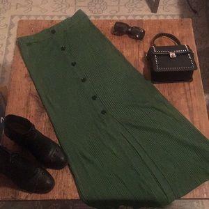 Zara Knit Column Skirt with Buttons
